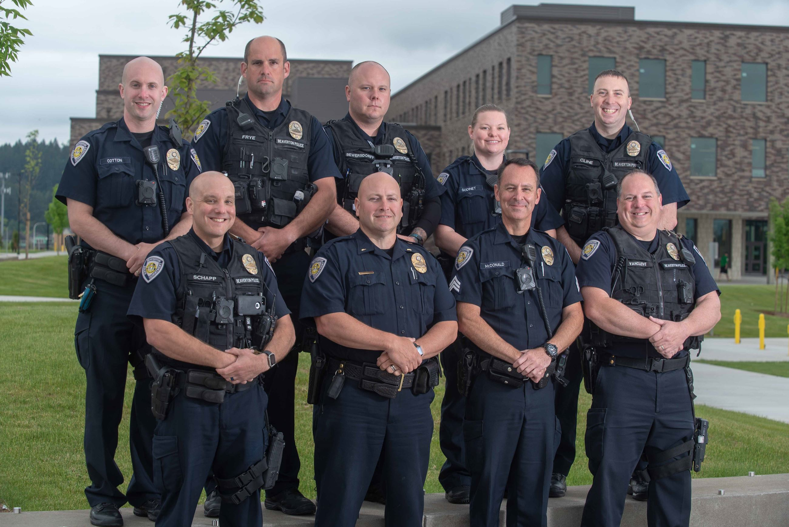 Group photo of all School Resource Officers